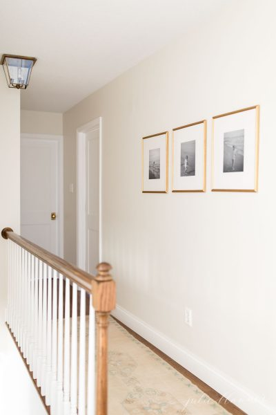 white trim paint in hallway