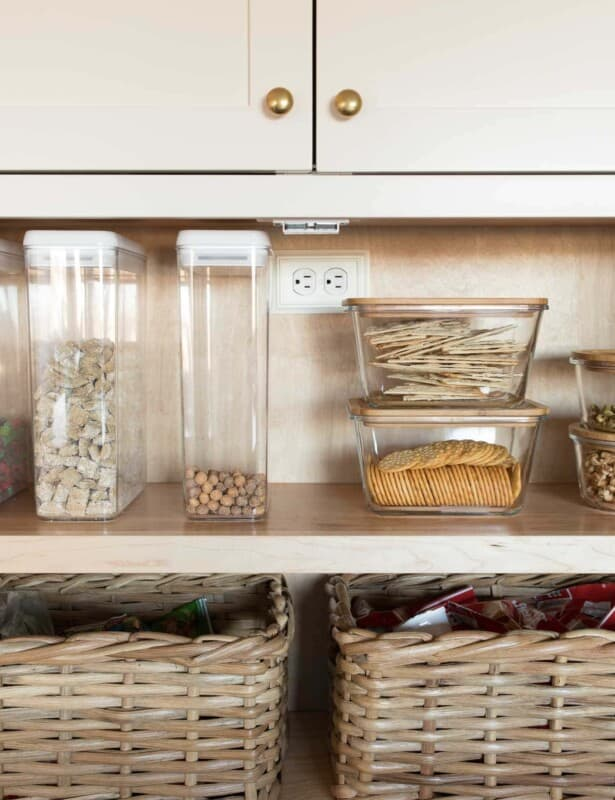 pantry organized back to school