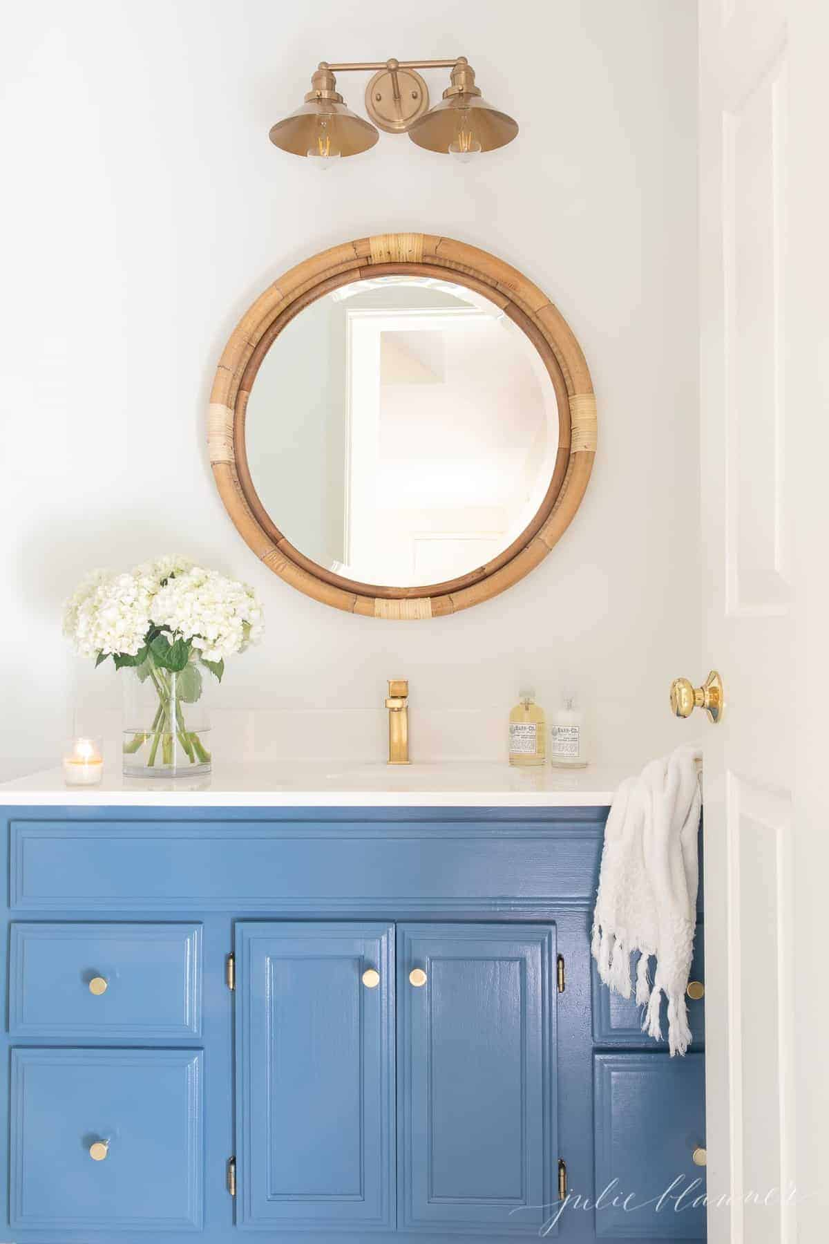 Before And After Nautical Bathroom Decor Paint Color