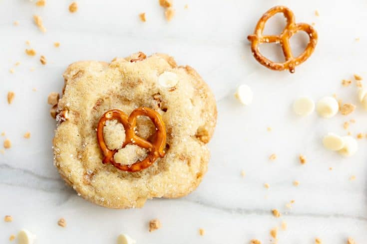 Kitchen Sink Cookies with Toffee, Pretzels and White Chocolate Chips