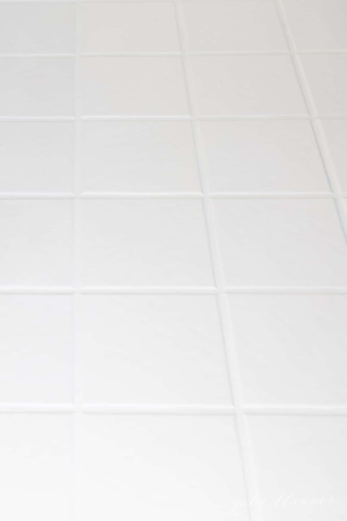 tile after using tile grout paint