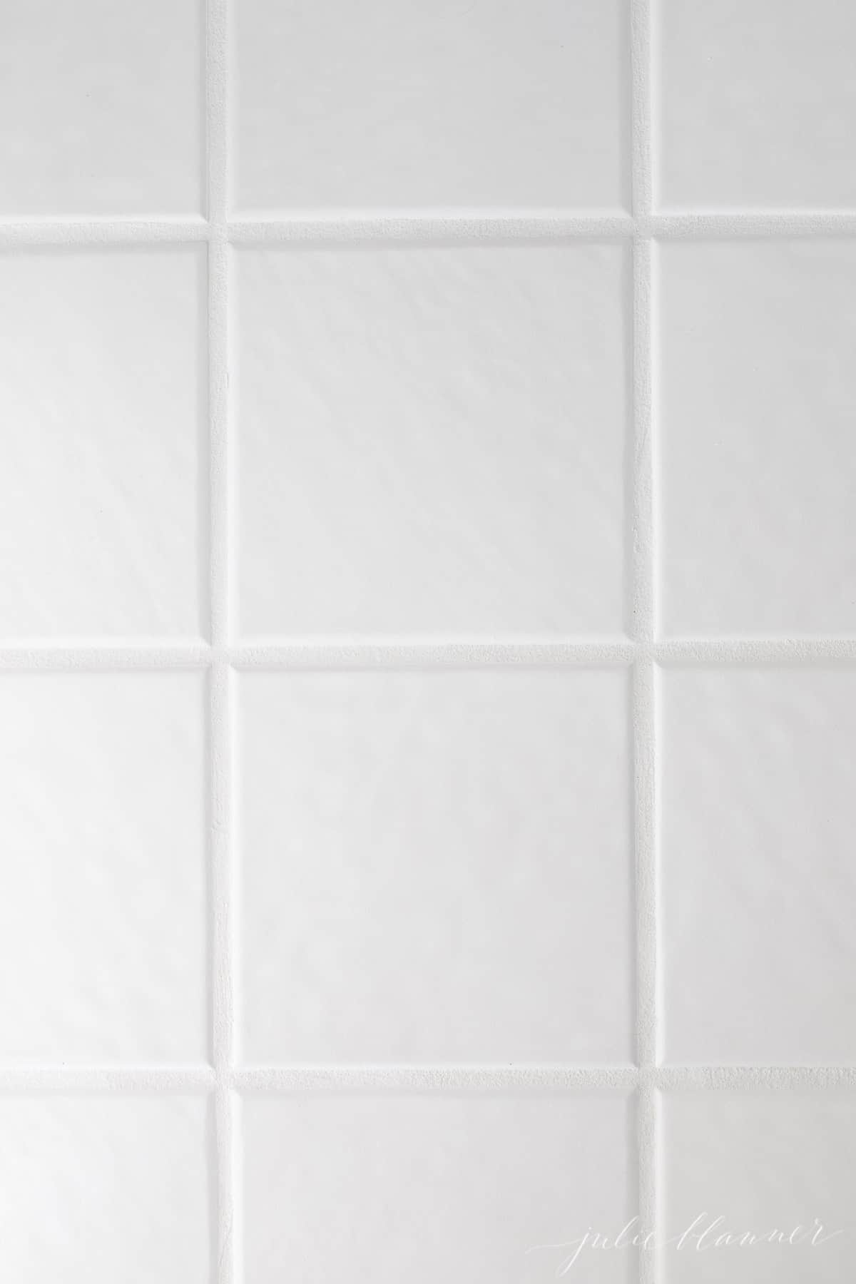 white tile and grout using grout refresh