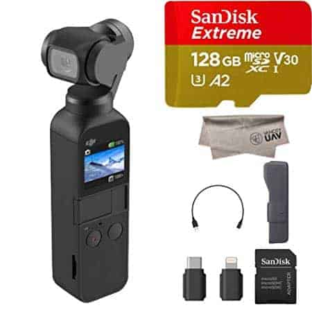 2019 DJI Osmo Pocket Handheld Camera, Comes 128GB Extreme Micro SD, Attachable to iPhone