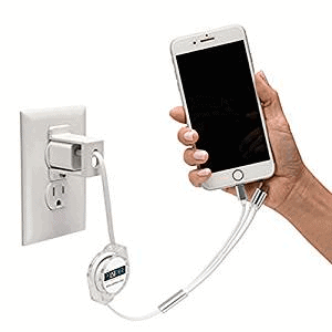 Cell Phone Charger Lock - Keeps Cellular Charging Cable from Being Stolen