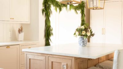 garland in traditional kitchen