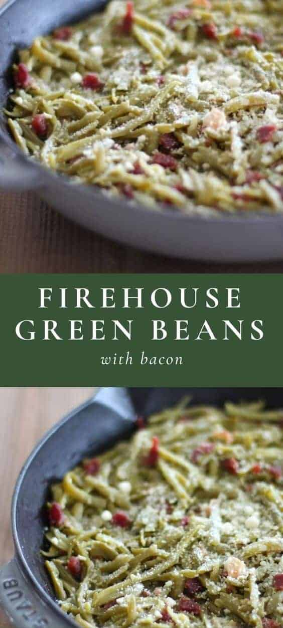 firehouse green beans with bacon long pin