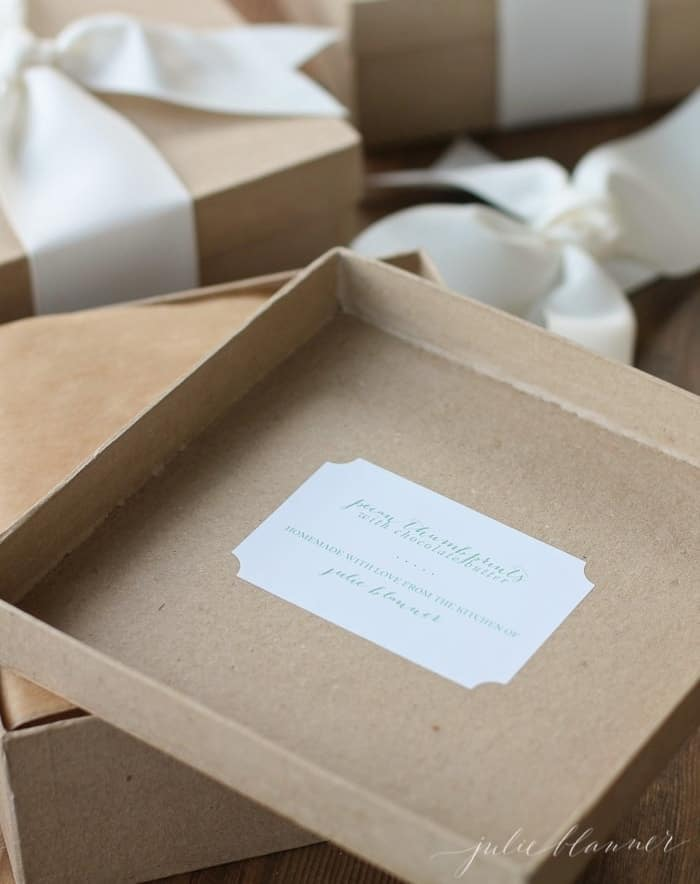 boxes to gift wrap and ship cookies