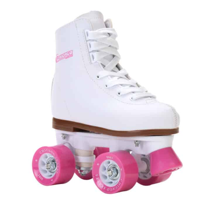 Chicago Girls' Classic Quad Roller Skates White Junior Rink Skates, Size 1