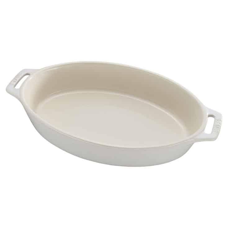 Staub Rustic Ceramic Oval Bakers, Ivory