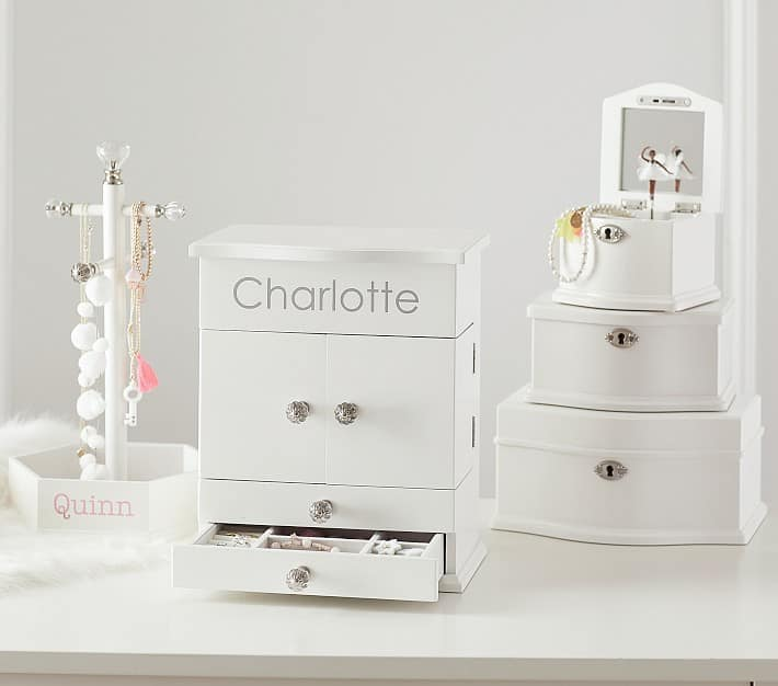 White Abigail Jewelry Box Collection