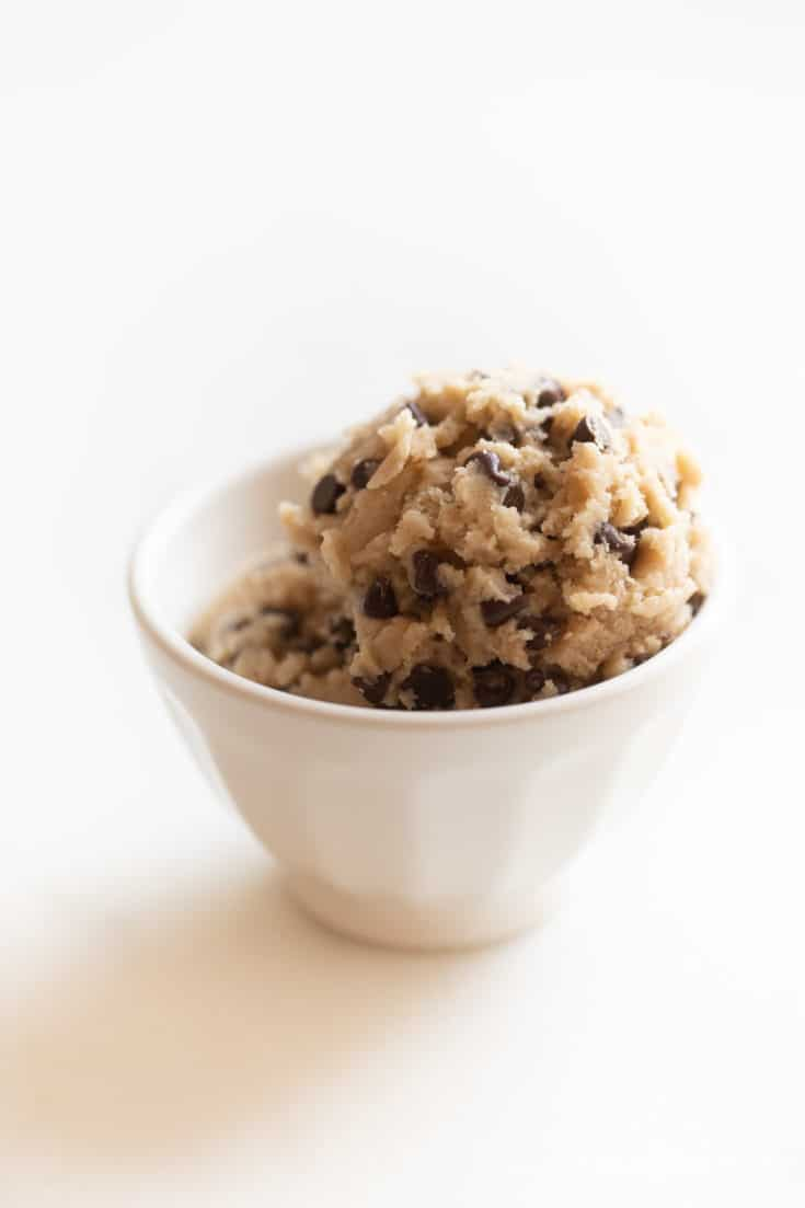 Edible Cookie Dough with Chocolate Chips