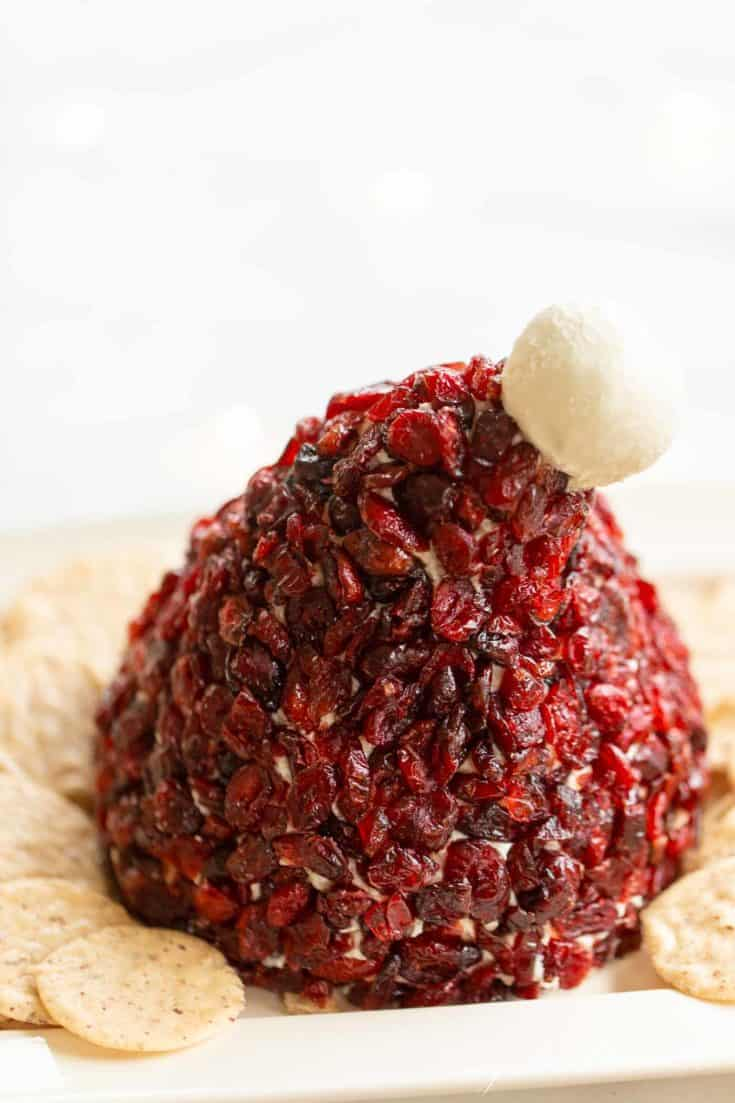 Santa's Hat Cranberry Cheese Ball