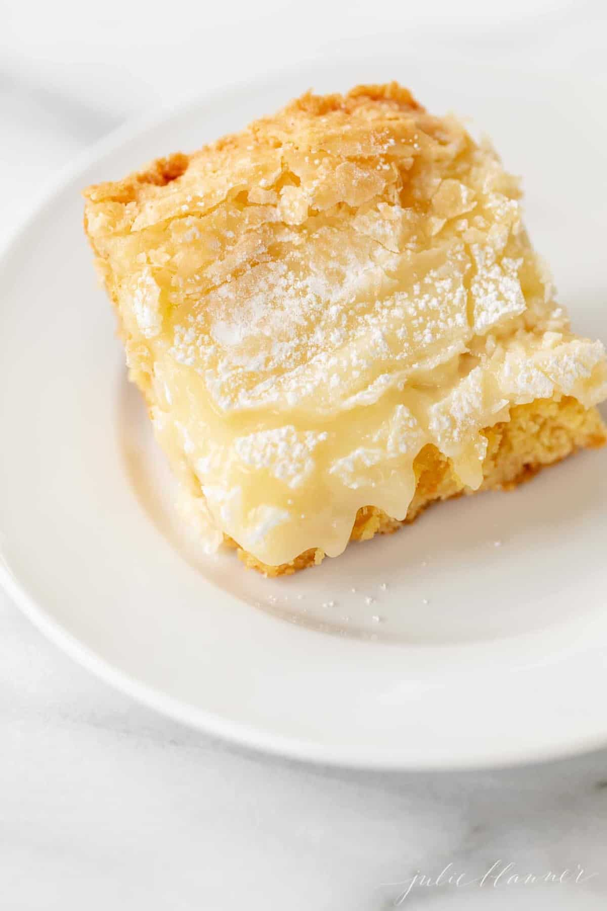 slice of gooey butter cake