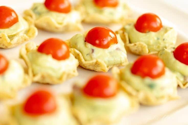 Guacamole Bites | The Easiest Guacamole Cup Appetizer