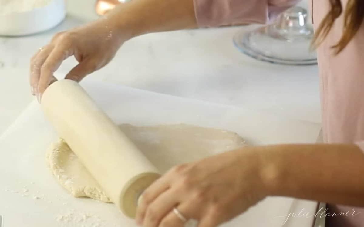 rolling out salt dough