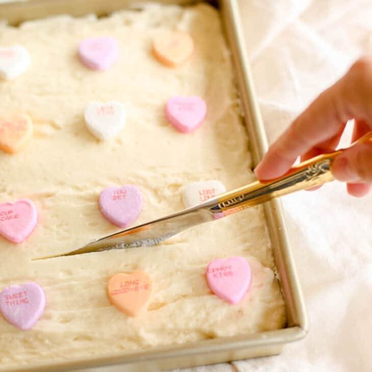 cutting into cookie bars
