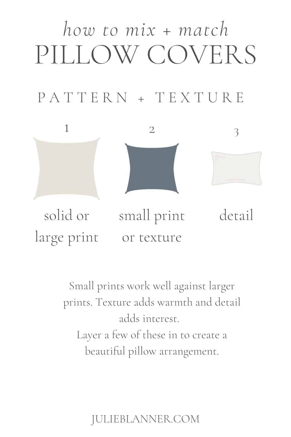 guide to mixing pillow covers