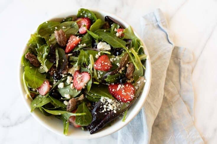 Mistura simples de salada de primavera