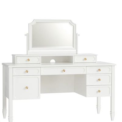 white desk with vanity