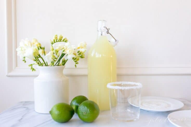 The ONLY Homemade Margarita Mix Recipe You'll Ever Need