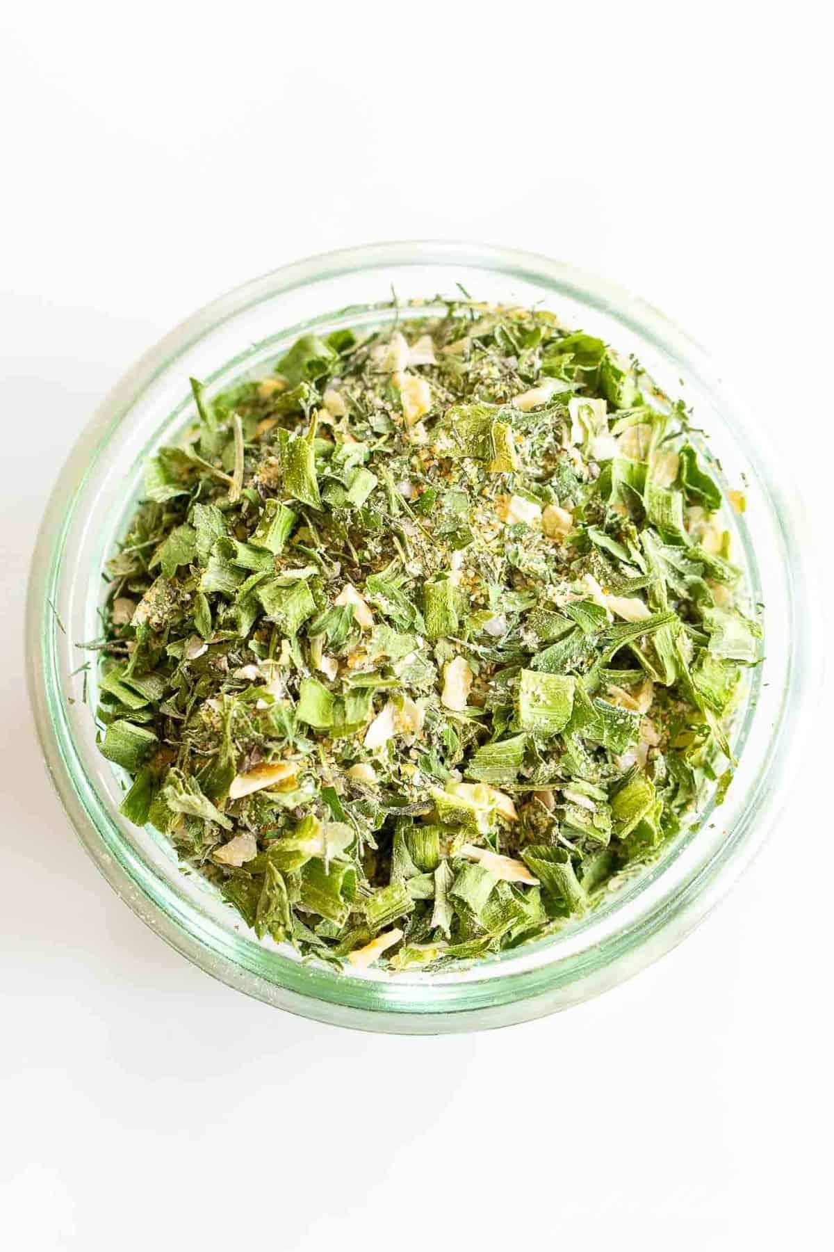 overhead of herbs