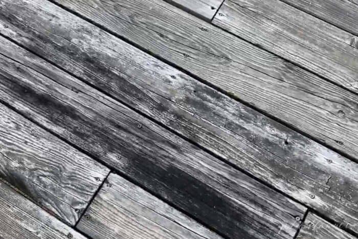 rotting wood deck