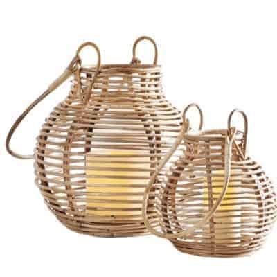 rattan lanterns