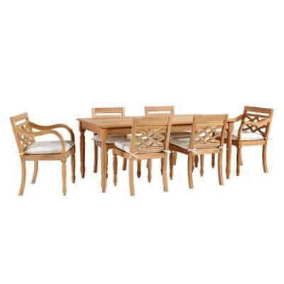 teak dining set