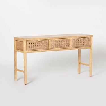 woven console table