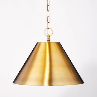 gold metal pendant