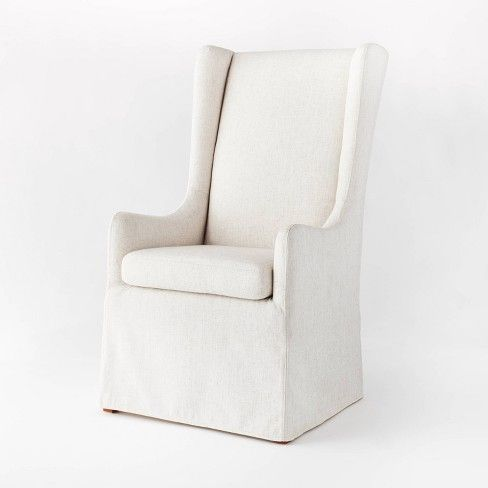 A slipcover white accent chair from Target