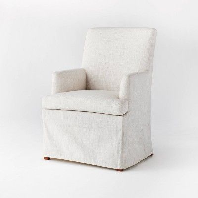 A slipcover white dining chair from Target