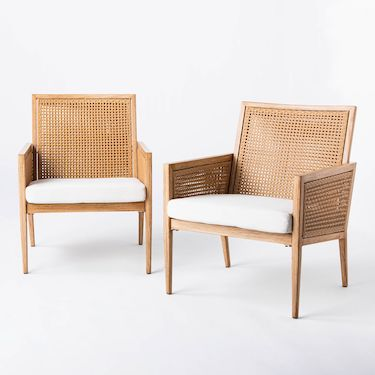 2 outdoor woven chairs