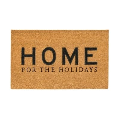 home for the holidays door mat