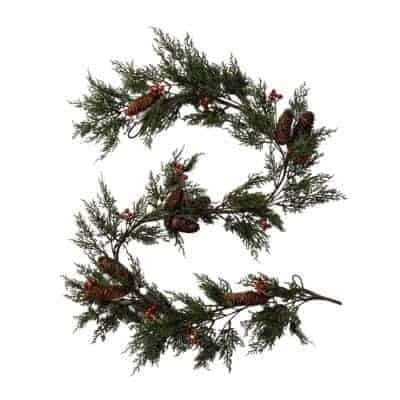 pinecone and berry garland
