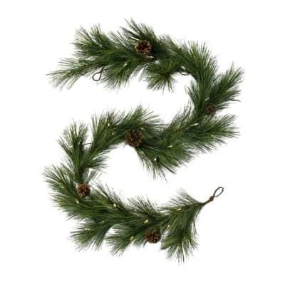 pre lit pine garland