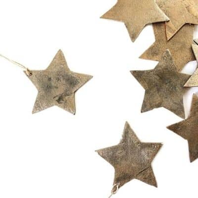 gold star ornaments