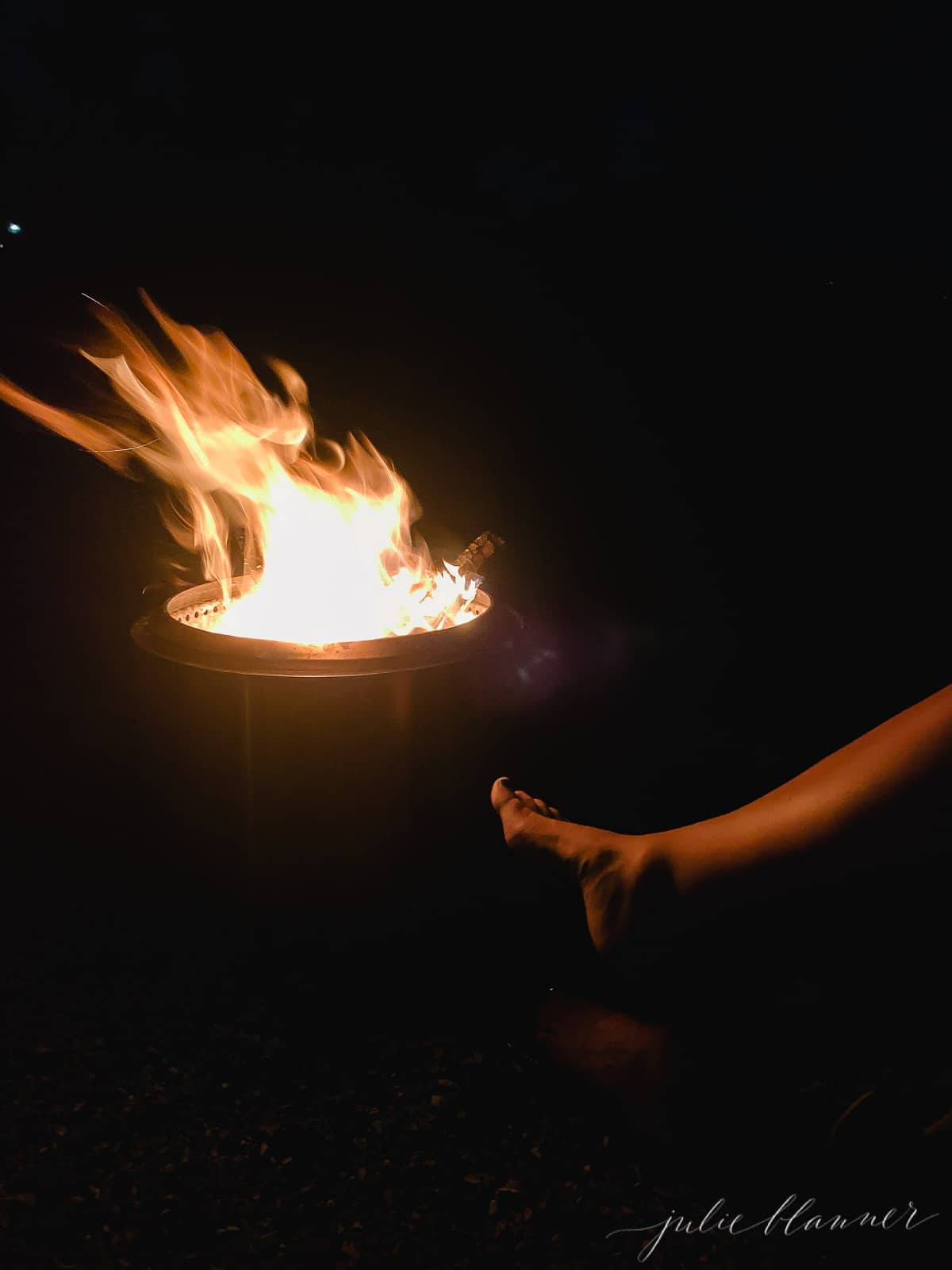 foot by fire pit