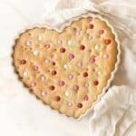heart shaped m&m cake