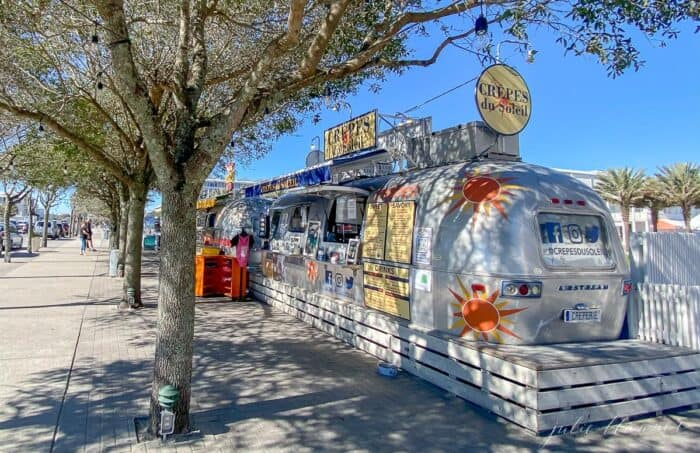 A caboose style food truck in Seaside Florida
