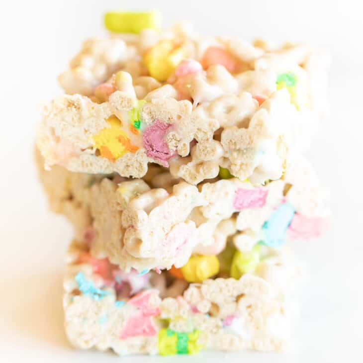 stack of lucky charms treats