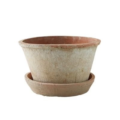 clay pot and saucer