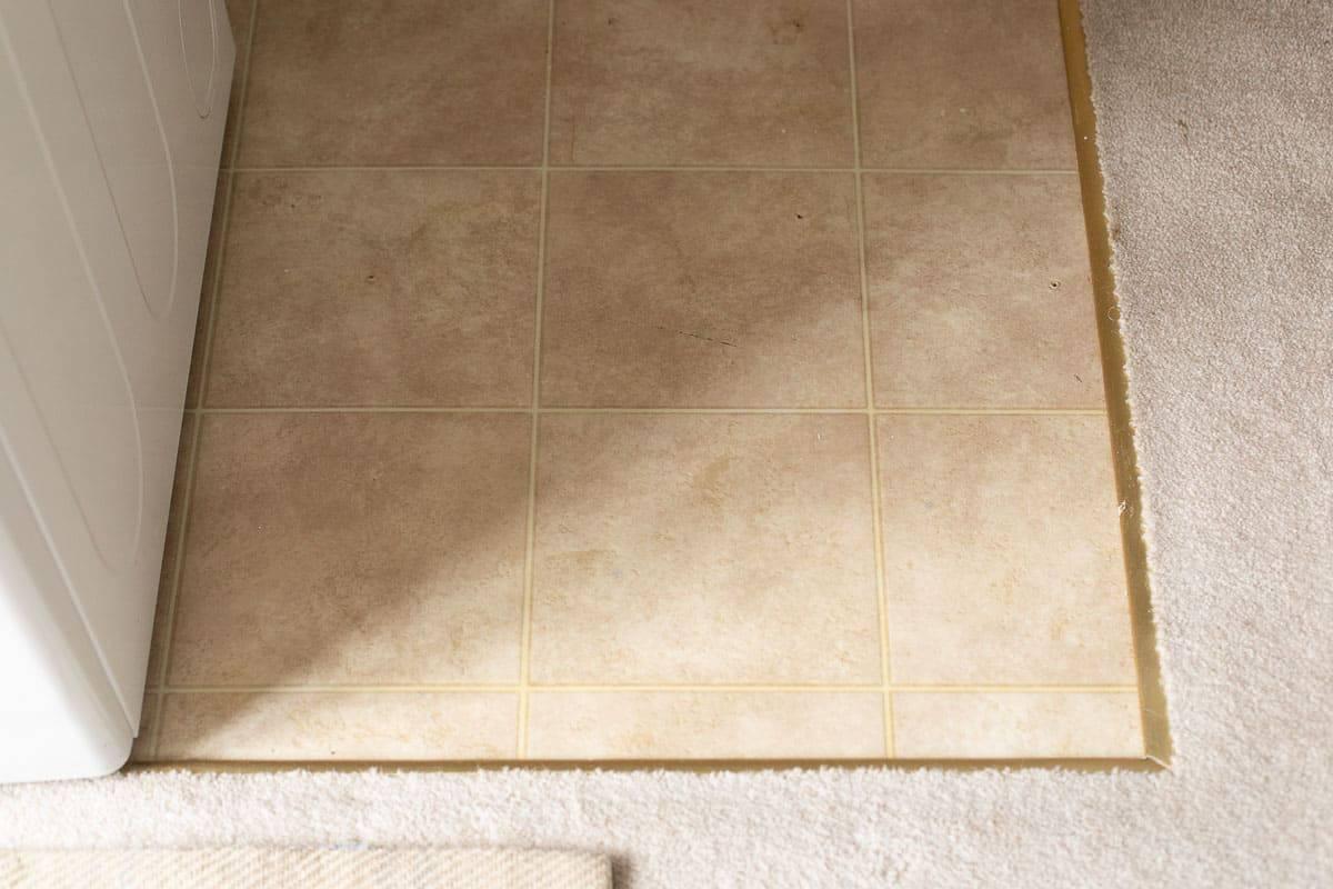 dated linoleum floor