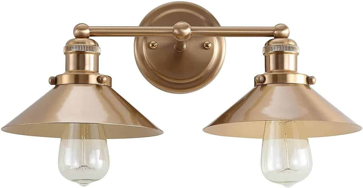 gold double nautical sconce