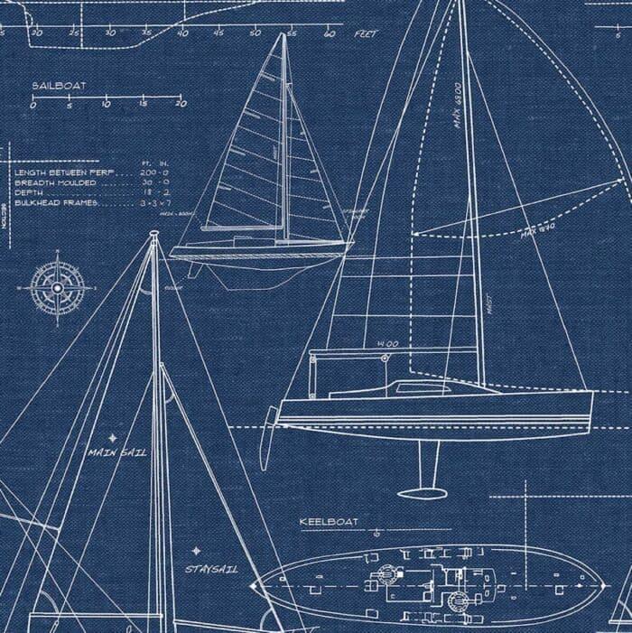 navy sailboat wallpaper