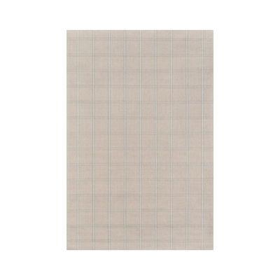beige and grey plaid rug