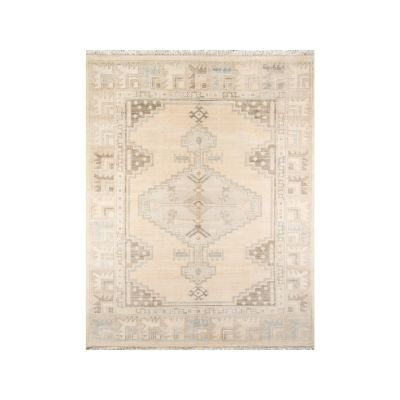 wool patterned rug in neutral colors