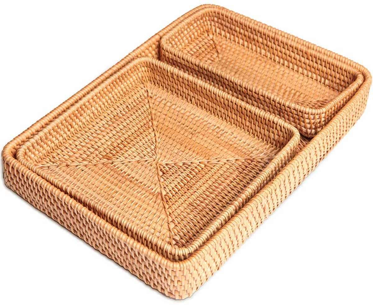 rattan nesting trays