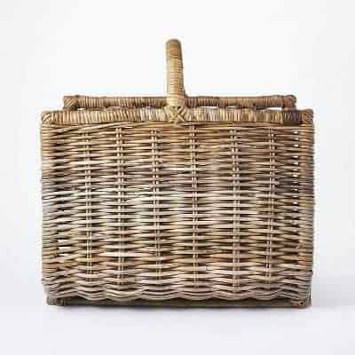 A woven basket log holder from studio mcgee threshold for target