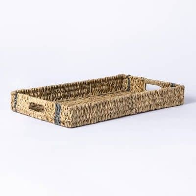 an outdoor wicker tray from studio mcgee for target